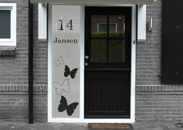 Voordeur sticker met namen en huisnummer 40.4