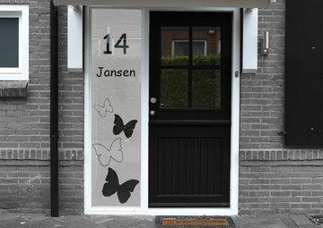 Voordeur sticker met namen en huisnummer 40.5