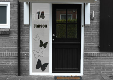 Voordeur sticker met namen en huisnummer 40.7