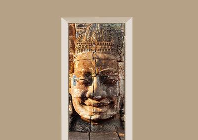 Deursticker boeddha Bayon tempel