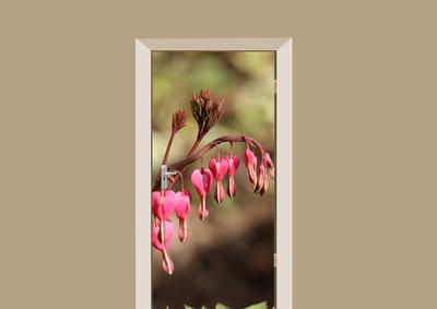 deursticker bloemen gebroken hartjes