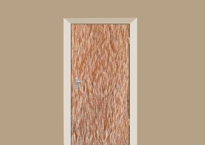 deursticker dierenprint rode vacht