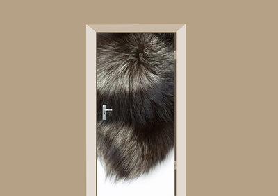 deursticker dierenprint bont