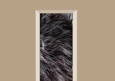 deursticker dierenprint donker bont