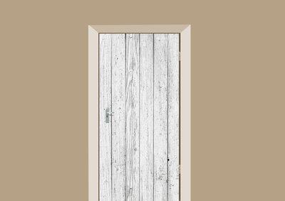 deursticker hout vintage wit hout