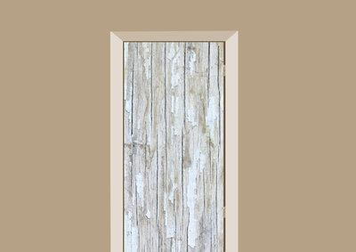 deursticker hout wit