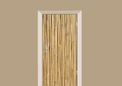 deursticker hout bamboe takken