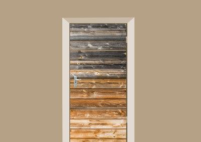 deursticker hout schutting