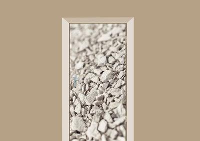deursticker tegels en stenen grind