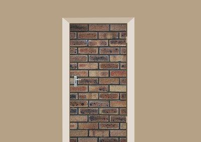 deursticker tegels en stenen bakstenen