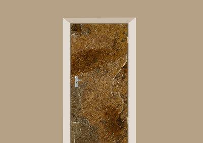 deursticker tegels en stenen leisteen bruin
