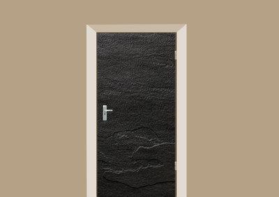 deursticker tegels en stenen leisteen zwart