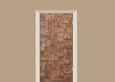 deursticker stenen en tegels stenen roest