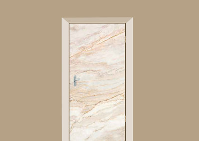deursticker tegels en stenen marmer zacht beige