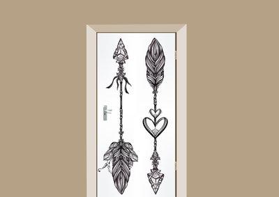 deursticker mohemian liefdespijlen