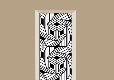 deursticker bohemian motief wit