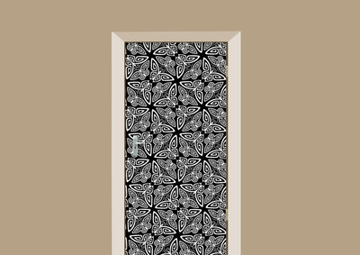 deursticker bohemian vlindermotief