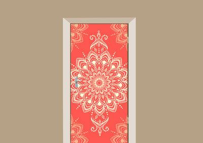 deursticker motief rood