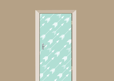 deursticker bohemian pijlen mint