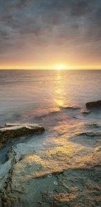 SALE: Muursticker/deursticker zonsopkomst 45x210cm (BxL)