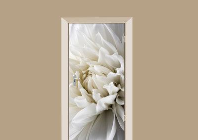 deursticker bloemen dahlia