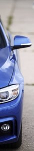 SALE: Muursticker/deursticker auto blauw 45x210cm (BxL)