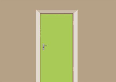 deursticker lichtgroen