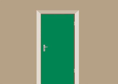 deursticker mat groen