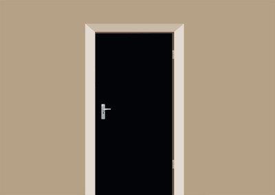 deursticker mat zwart