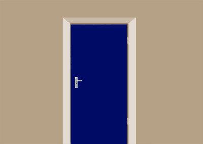 deursticker blauw