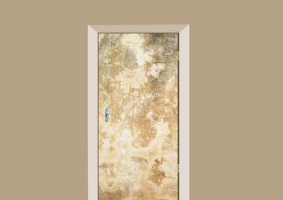 Deursticker abstract beige