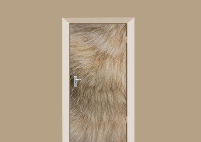 deursticker dierenprint hondenvacht
