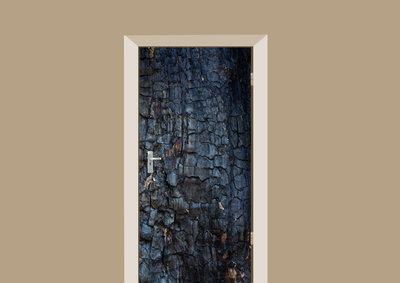 deursticker hout verbrand hout