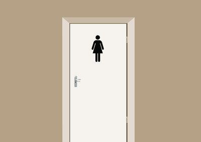 Deursticker toiletdeur dames