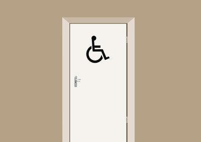 Gehandicapten toilet deursticker