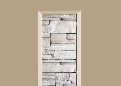 deursticker tegels en stenen steenstrips