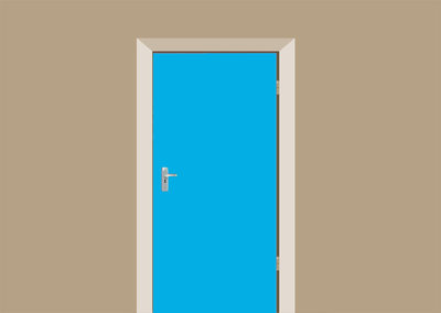 deur lichtblauw kleur 112