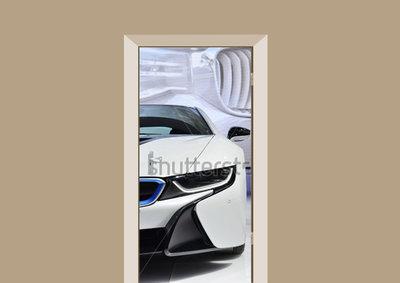 deursticker BMW wit