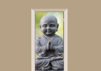 Deursticker boeddha zen