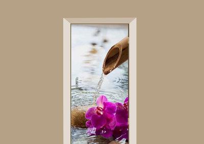 Deursticker boeddha waterval