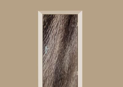 deursticker dierenprint marmottenvacht