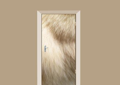 deursticker dierenprint hondenvacht glans