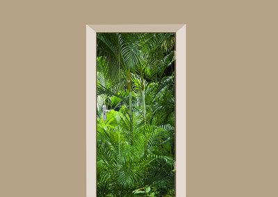 deursticker natuur palmbomen