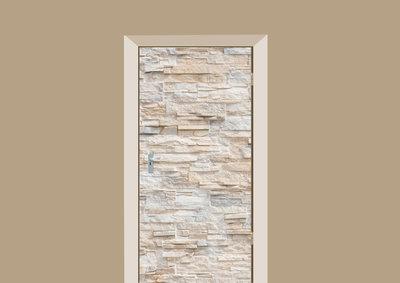Stenen Muur Wit : Deursticker stenen muur wit deurstickers webshop