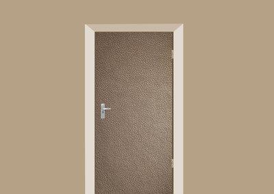 deursticker texturen leer bruin