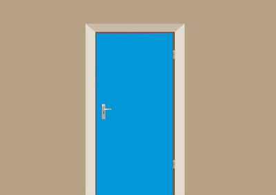 deursticker lichtblauw
