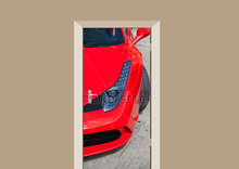 Deursticker Ferrari 458 rood