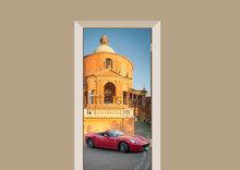 Deursticker Ferrari Italië