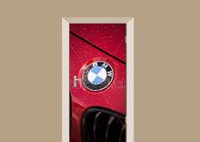 Deursticker rode BMW