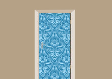 Deursticker barok blauw